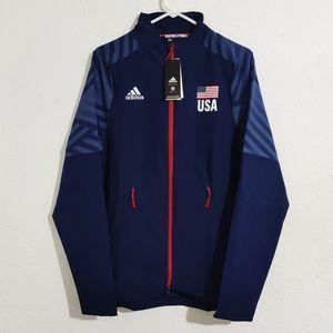 Adidas USA Volleyball Navy Limited Warmup Jacket